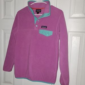 PURPLE AND TEAL PATAGONIA SYNCHILLA  xs